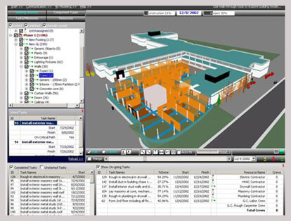 Simulation of Construction Sequence 4D Modeling Services