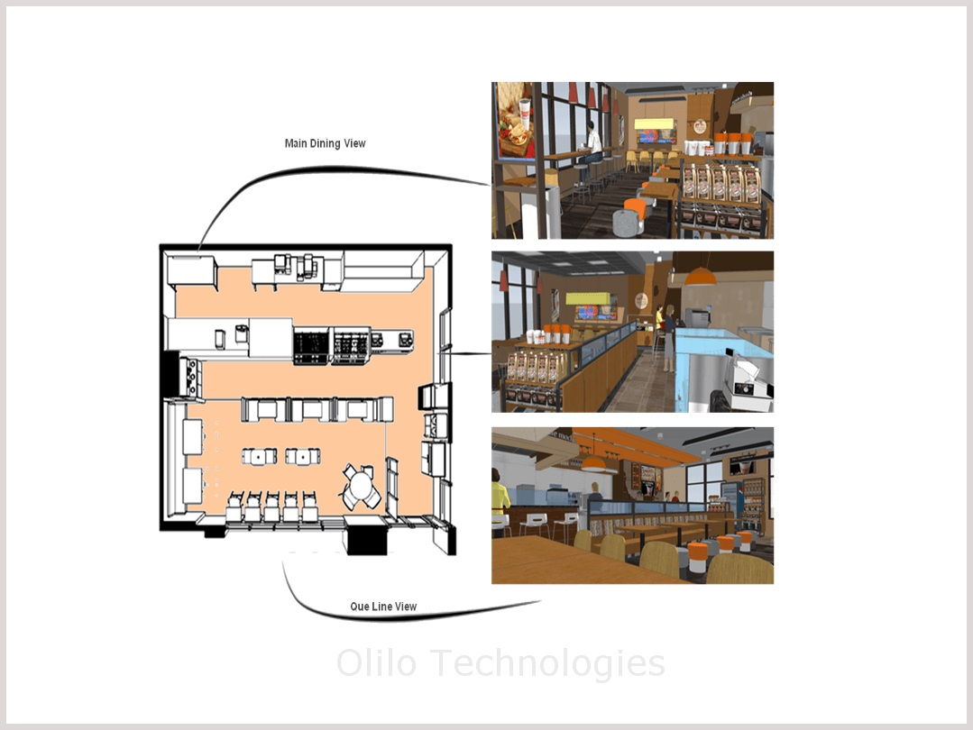 Restaurant concept design services revit modeling