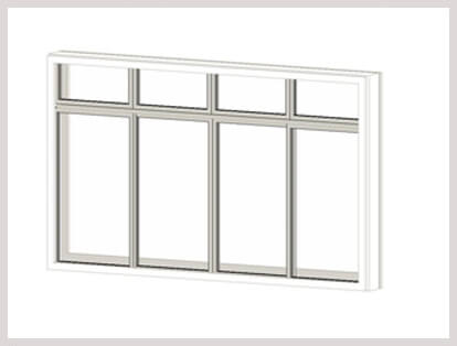 4 Leaf Adjustable Window